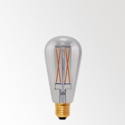 LED FILAMENT T64 E27 6W 2000K - SMOKE