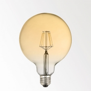 LED FILAMENT GL125 E27 8W 2700K - GOLD